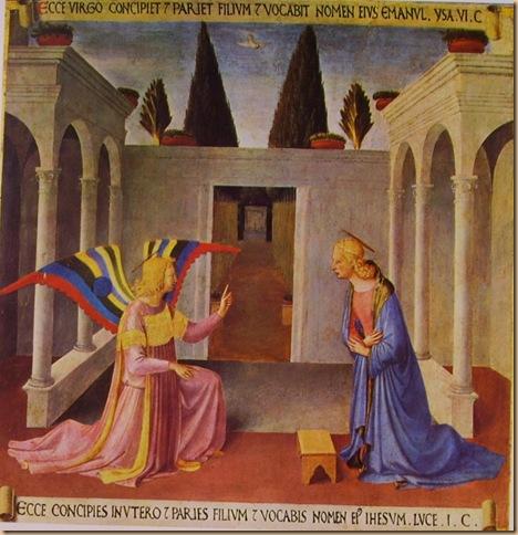 Beato Angelico - Armadio degli Argenti, Annunciazione